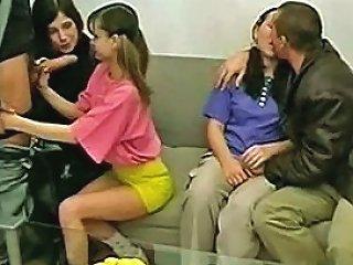 Innocent Looking Teenie Threesome